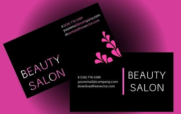 Beauty Salon Business Cards Unique Beauty Salon Business Card Vector