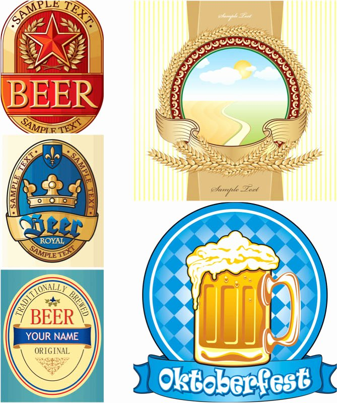 Beer Label Template Illustrator Fresh Beer Label Template