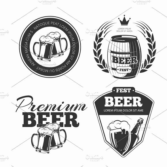 Beer Label Template Illustrator Luxury Beer Label Template for Illustrator Designtube Creative Design Content