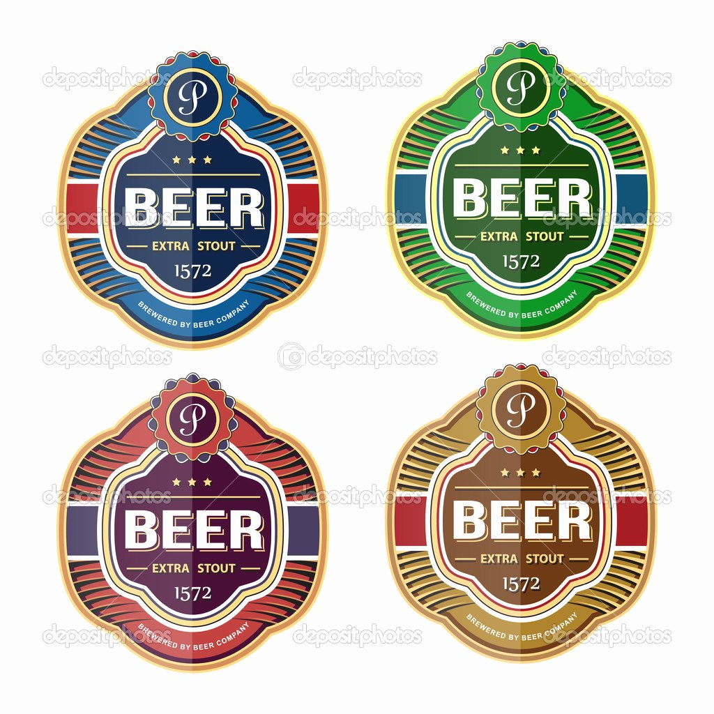 Beer Label Template Illustrator Luxury Beer Label Template