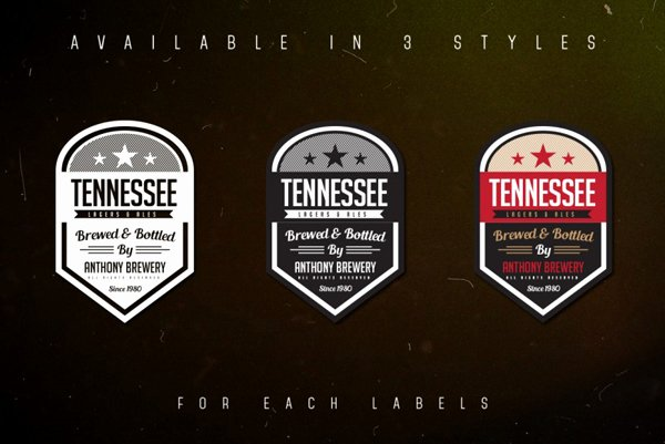Beer Label Template Illustrator Unique 500 Logo Badge Templates & Vector Shapes for Designers Resources