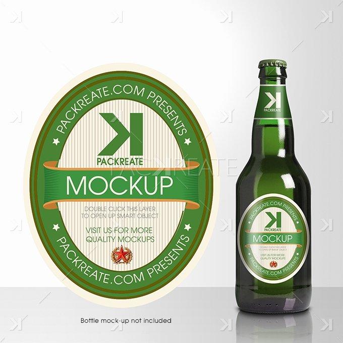 Beer Label Template Psd Elegant Packreate Beer Bottle Label Psd Template
