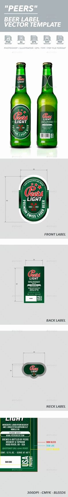 Beer Label Template Psd Fresh 1000 Images About Premium Packaging Templates On Pinterest