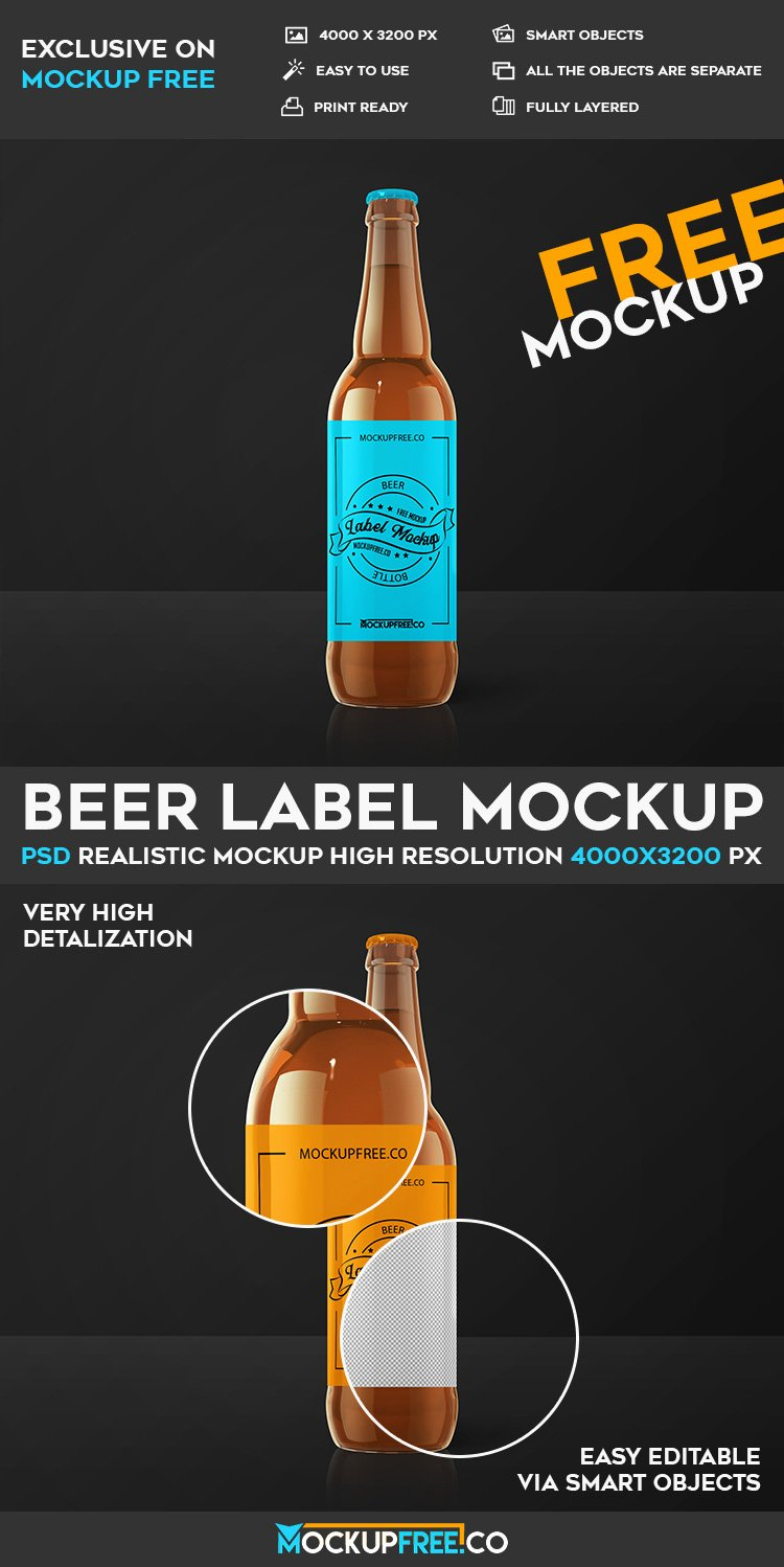 Beer Label Template Psd Unique Beer Label Free Psd Mockup