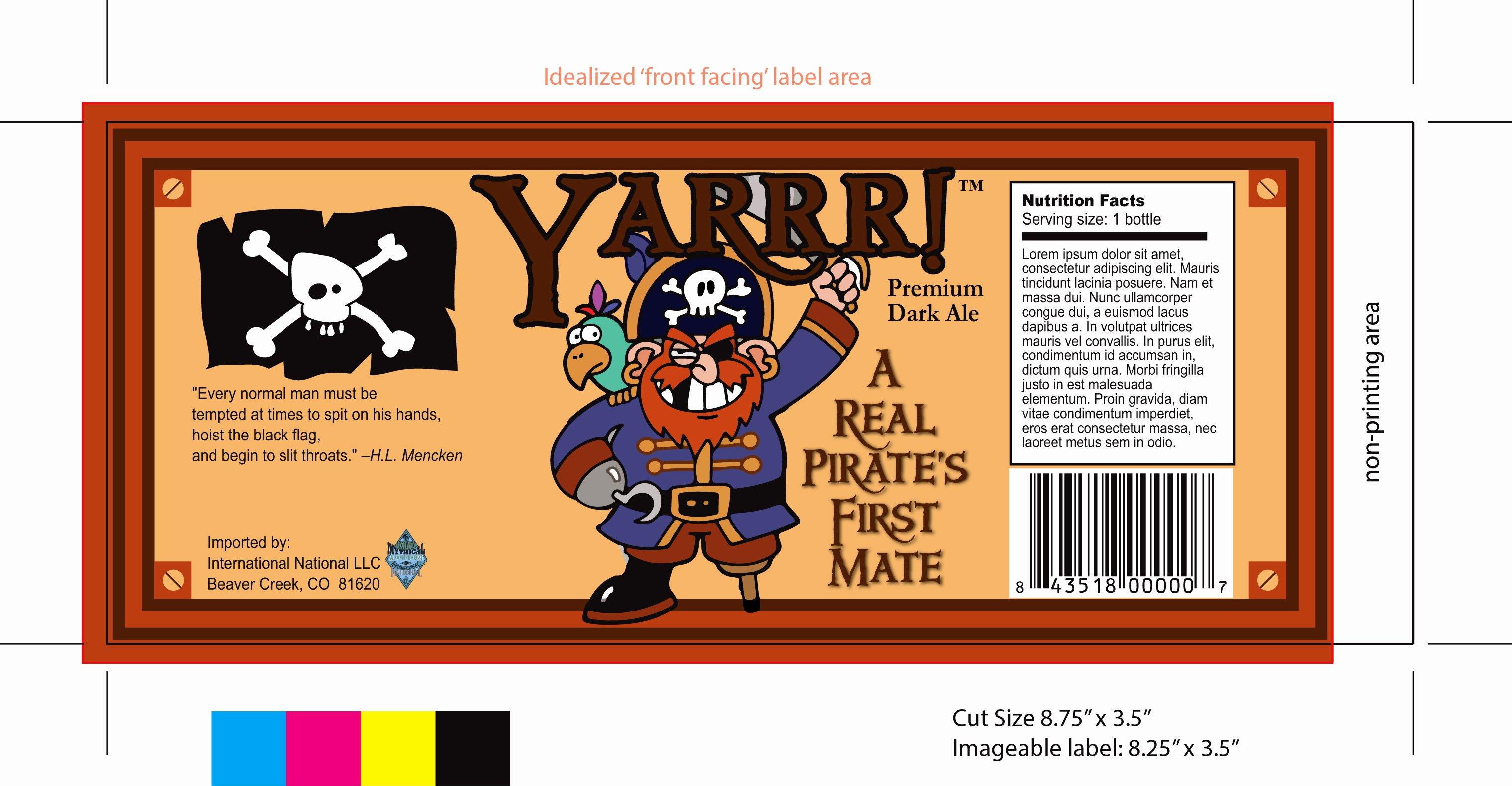 Beer Label Template Word Best Of Yarrr Beer