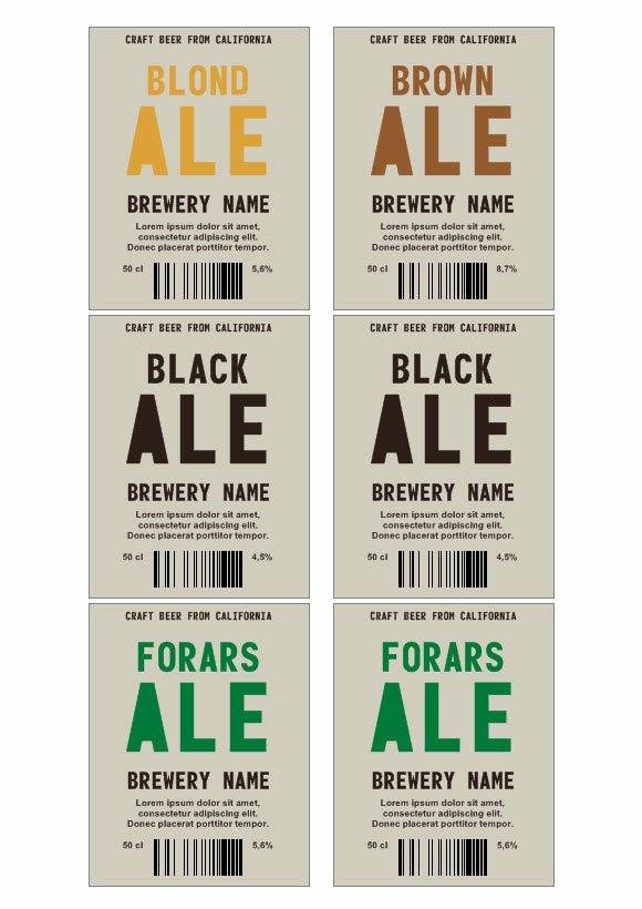 Beer Label Template Word Elegant Beer Label Template