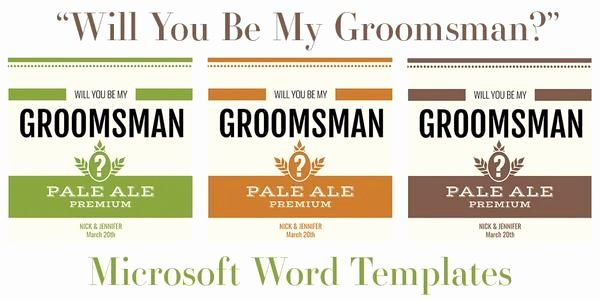 Beer Label Template Word Lovely Free Microsoft Word Templates for Beer Bottles In 2019