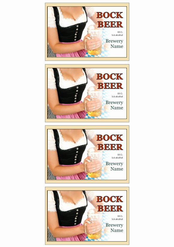 Beer Label Template Word Unique Beer Label Template