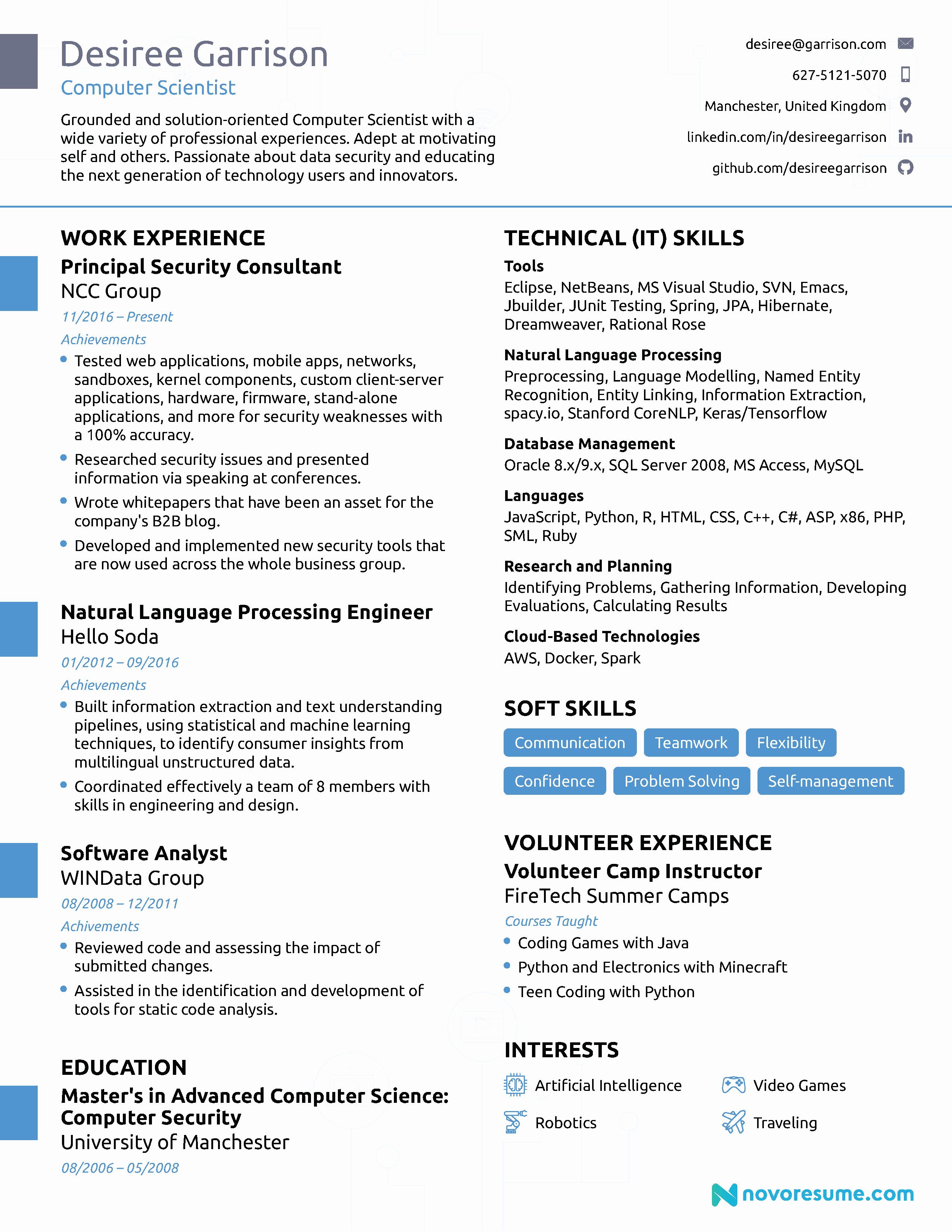 Best Computer Science Resume Elegant Resume Examples Resume Examples