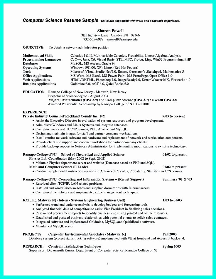 Best Computer Science Resume New Best 2695 Resume Sample Template and format Ideas On Pinterest