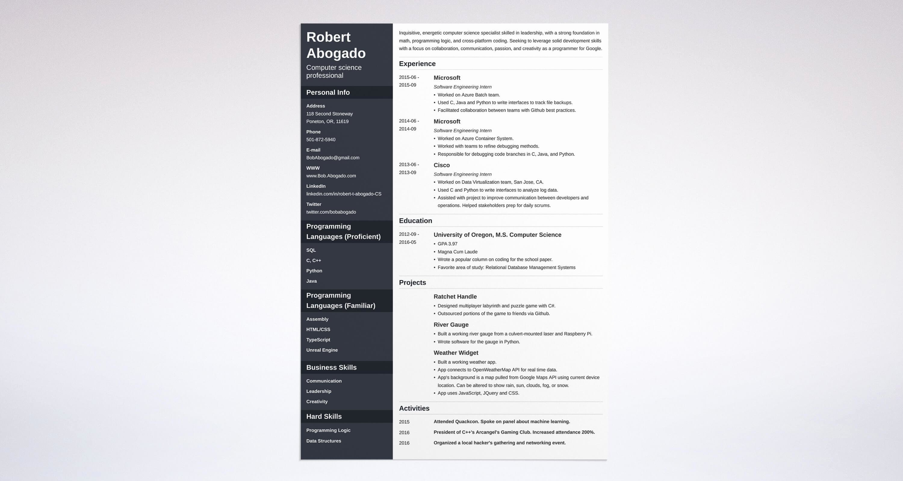 Best Computer Science Resume New How to Choose the Best Resume Layout Templates & Examples