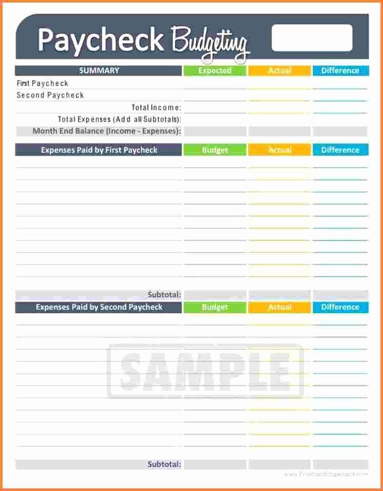 Bi Weekly Budget Printable Fresh 3 Bi Weekly Bud Spreadsheet