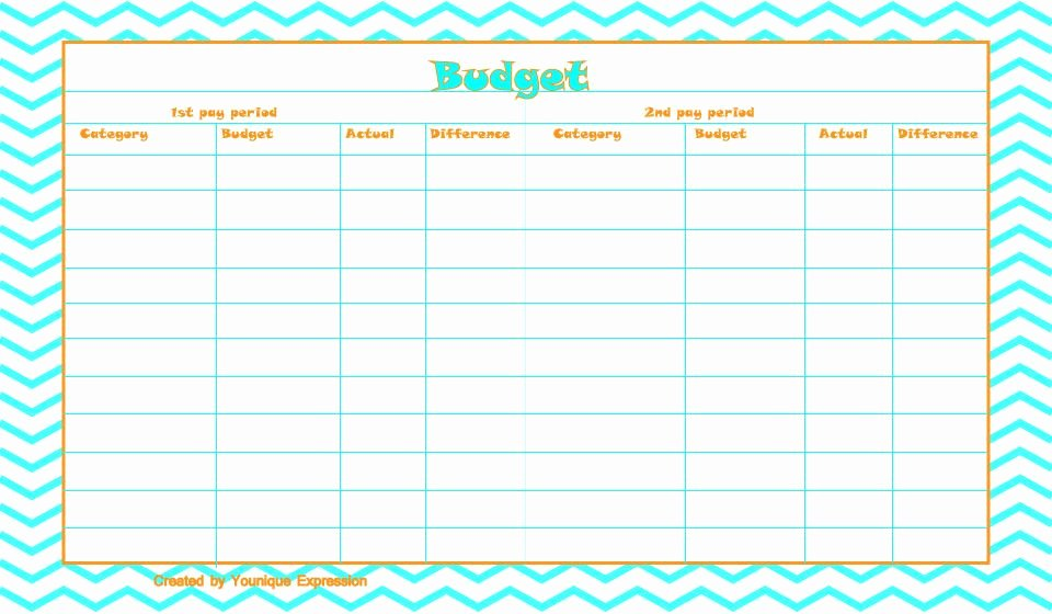 Bi Weekly Budget Printable Inspirational A Free Printable Bud Template This Template is Currently Set Up for A Bi Weekly Pay Period