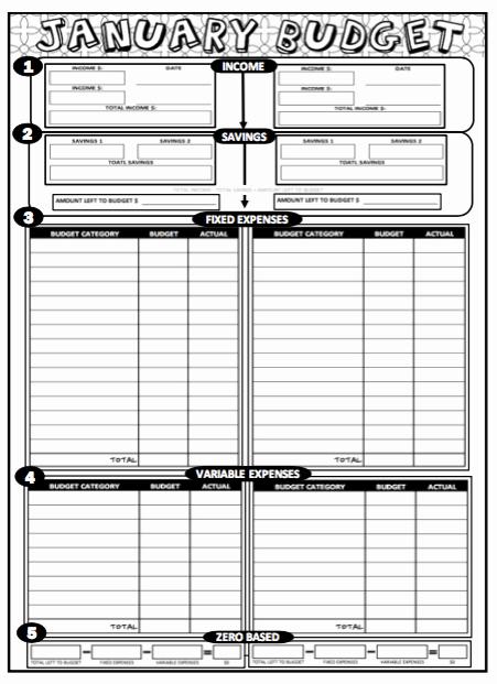Bi Weekly Budget Printable Luxury 2019 Printable Coloring Bud Sheets 12 Month Set Bi Weekly or Weekly Paychecks Download