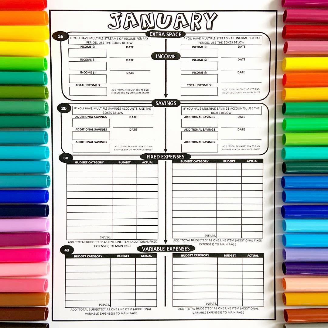 Bi Weekly Budget Printable New 2019 Printable Coloring Bud Sheets 12 Month Set Bi Weekly or Weekly Paychecks Download
