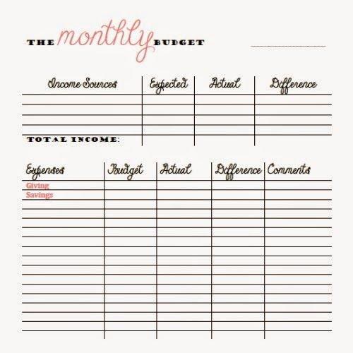 Bi Weekly Budget Printable New Free Monthly and Bi Weekly Bud Printables Money Things