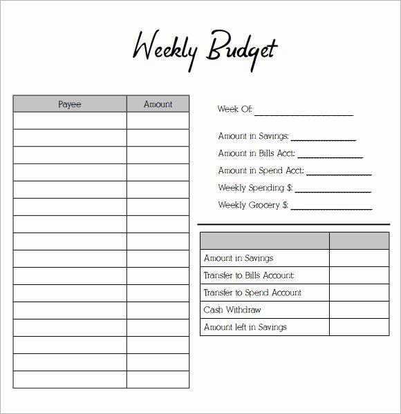 Bi Weekly Budget Worksheet Pdf Elegant Free 10 Weekly Bud Samples In Google Docs Google Sheets Ms Excel Ms Word