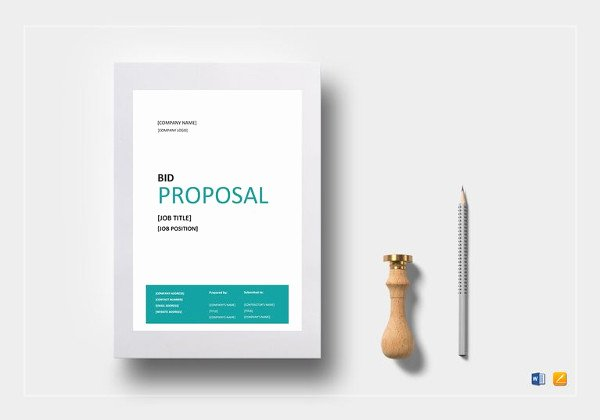 Bid Proposal Template Excel Elegant Bid Proposal Template 22 Free Word Excel Pdf Documents Download