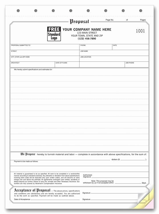 Bid Proposal Template Excel Fresh 5 Proposal form Templates formats Examples In Word Excel