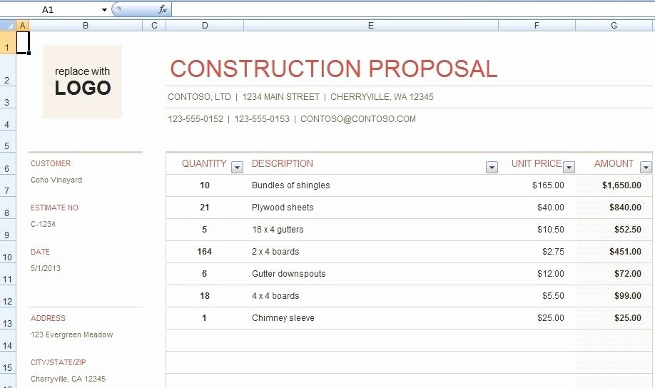 free construction bid proposal template for any construction project