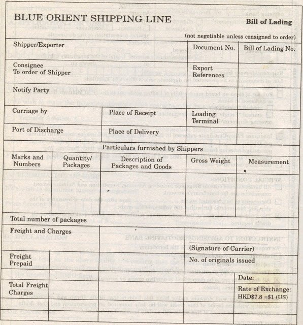 Bill Of Lading Sample Doc Best Of Simple topic Main Document Used In Transport