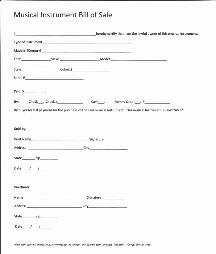 Bill Of Sale Equipment Luxury Free Printable Equipment Bill Sale Template form Generic