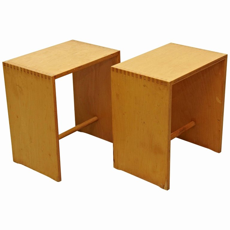 Bill Of Sale for Furniture Inspirational Max Bill Ulm Pair Of Mid Century Modern Wood Stool Circa 1970 for Sale at 1stdibs