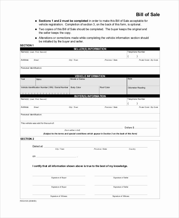 Bill Of Sale for Furniture Inspirational Sample Bill Of Sale form 9 Examples In Pdf Word