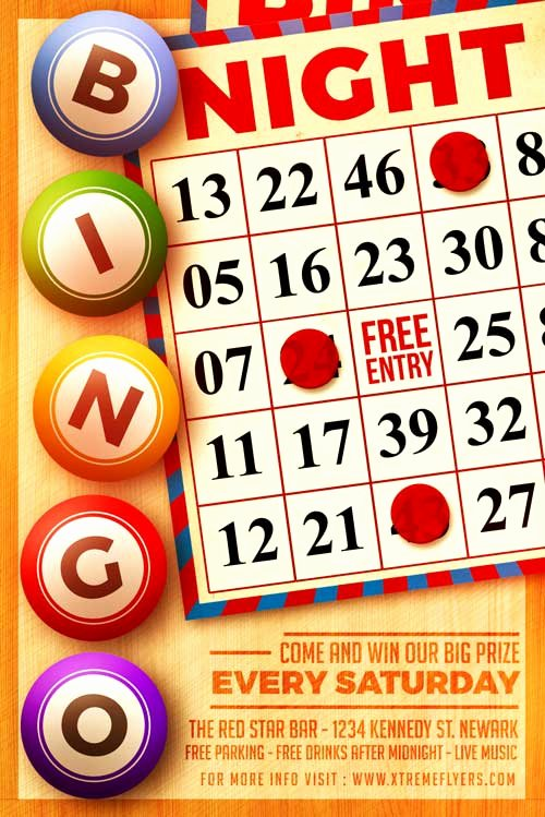 Bingo Flyer Template Free Best Of Xtremeflyers Club and Party Flyer Templates