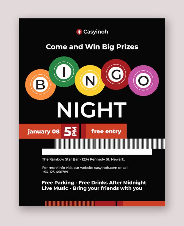 Bingo Flyer Template Free Elegant 10 Bingo Flyer Design Templates Psd Ai Vector Eps