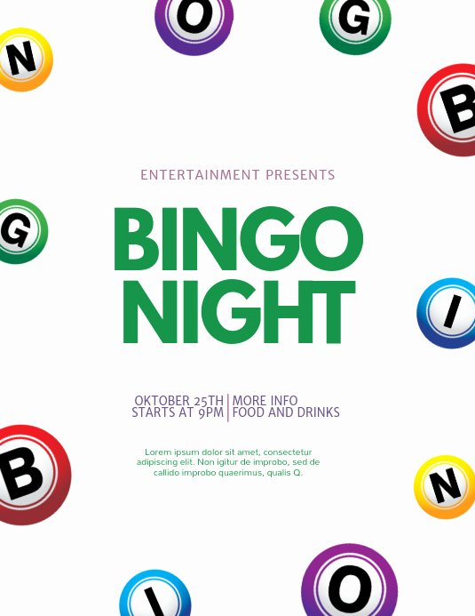 Bingo Flyer Template Free Fresh Bingo Flyer Template