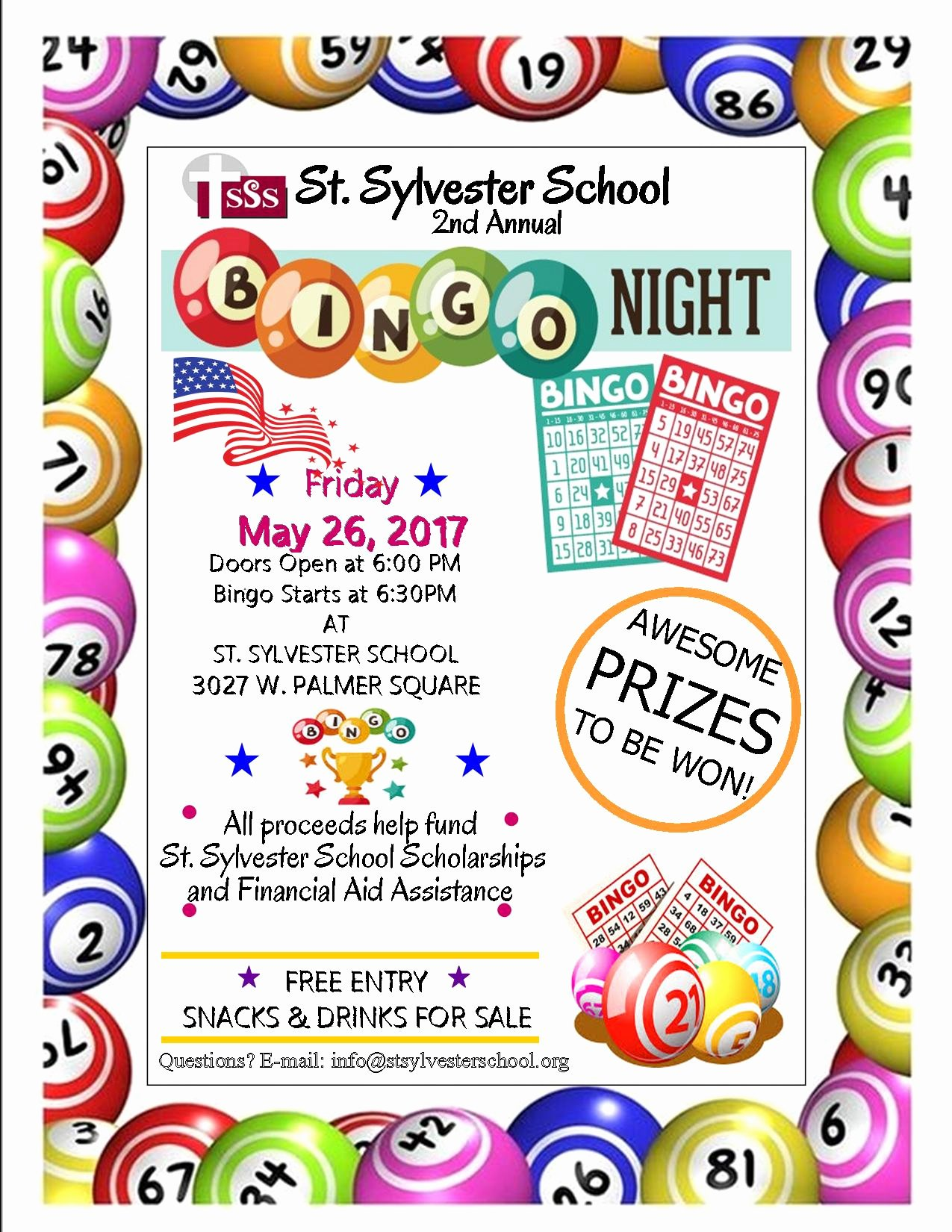 Bingo Flyer Template Free Fresh Bingo Night Flyer March 26 – St Sylvester School