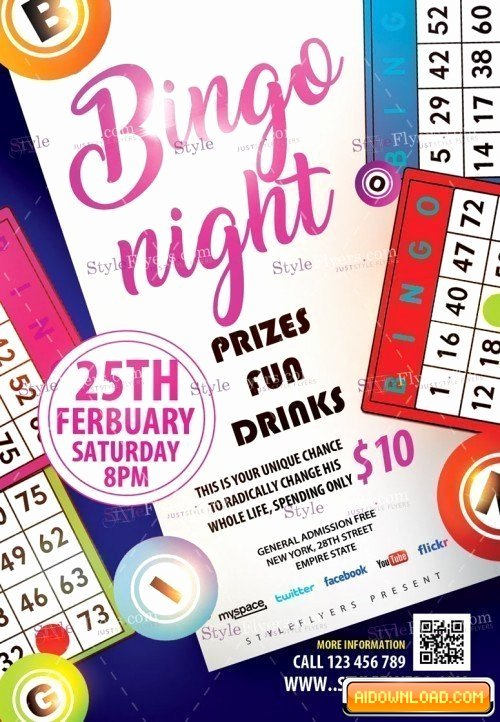 Bingo Flyer Template Free Fresh Bingo Night Psd Flyer Template Free Download