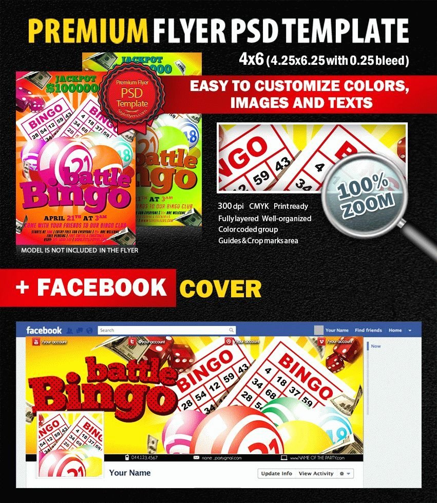 Bingo Flyer Template Free Inspirational Bingo Battle Psd Flyer Template 7443 Styleflyers