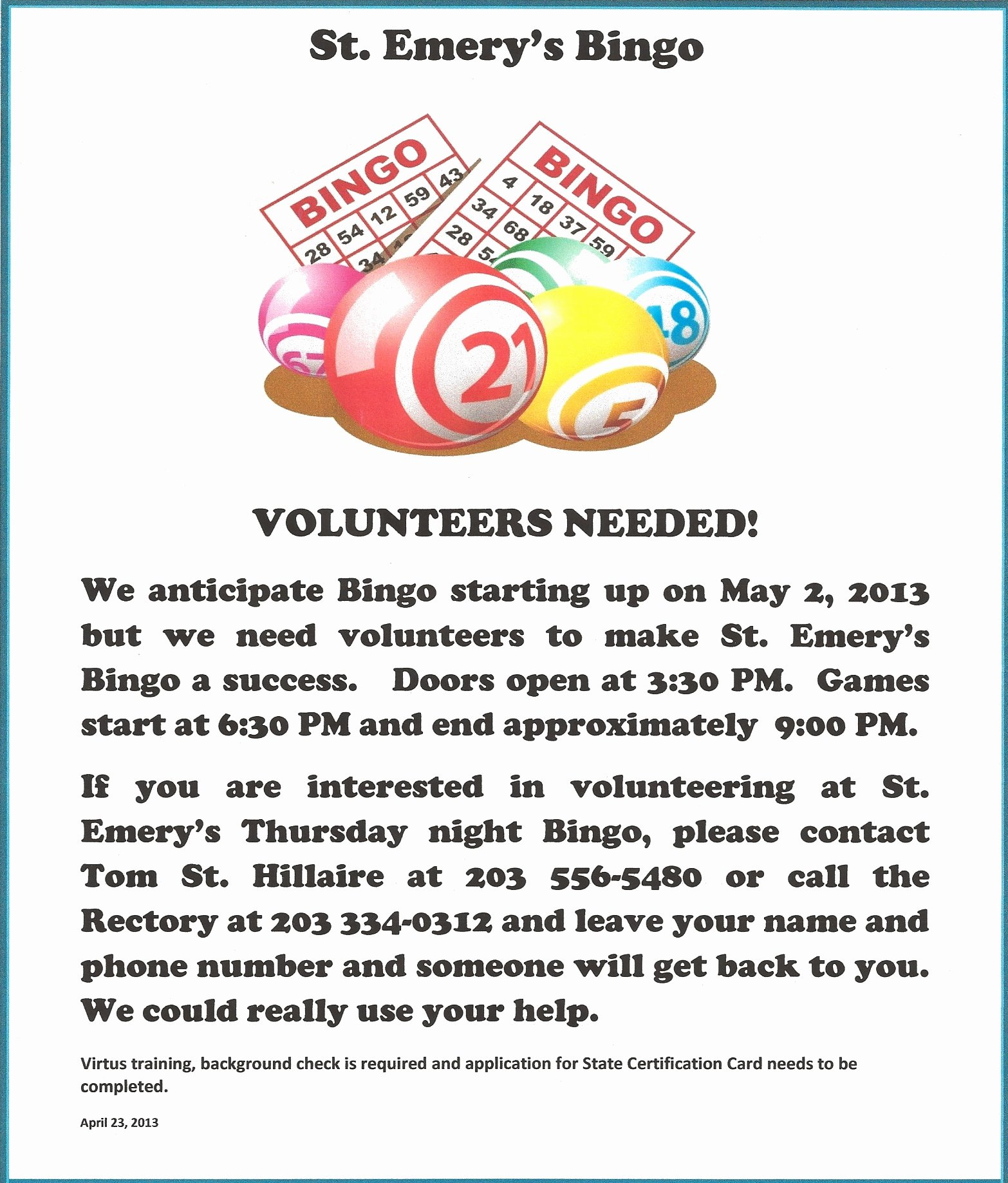 Bingo Flyer Template Free Inspirational Bingo Flyer