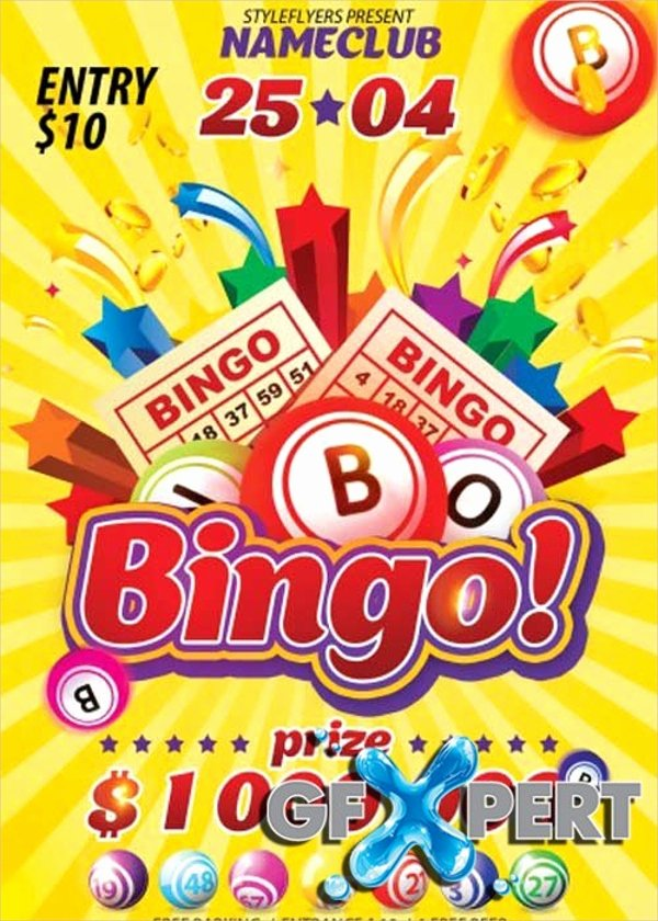 Bingo Flyer Template Free Luxury 17 Bingo Flyer Design Templates Word Psd Ai Vector Eps
