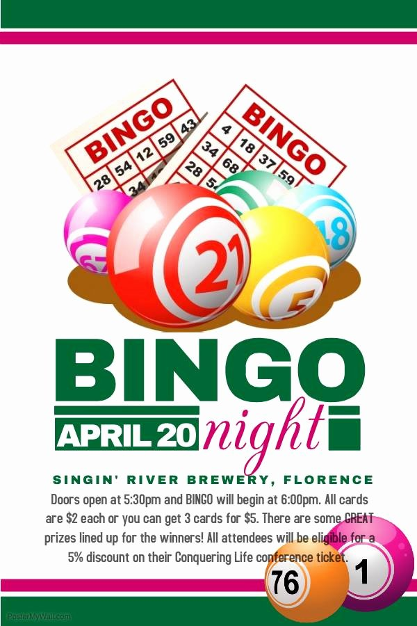 Bingo Flyer Template Free Luxury Bingo Night