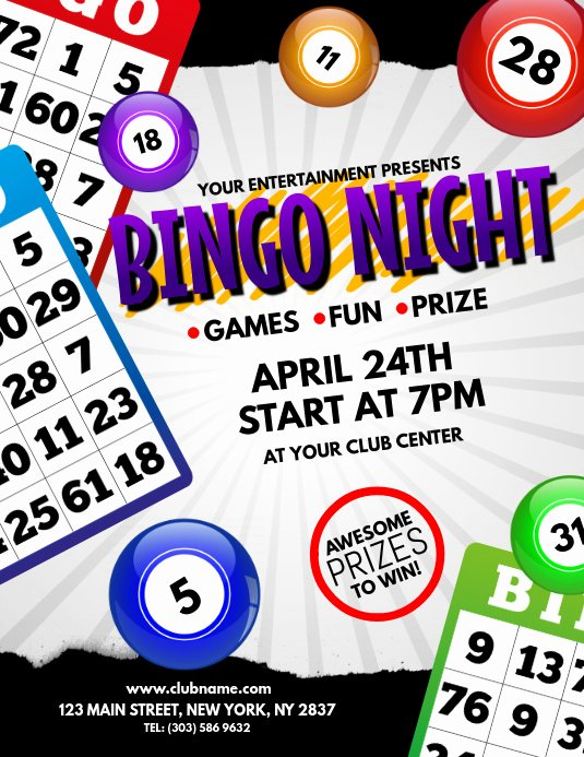 Bingo Flyer Template Free New Bingo Night Flyer Template