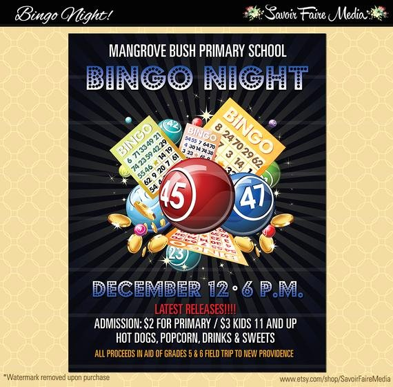 Bingo Flyer Template Free Unique Bingo Flyer Bingo Night Poster Template Church School