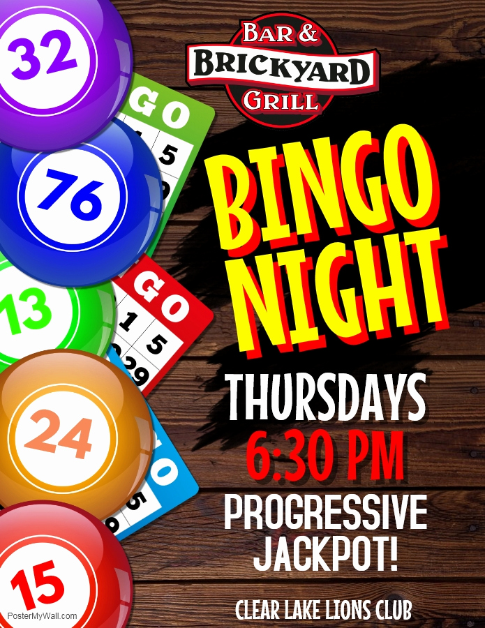 Bingo Flyer Template Free Unique Brickyard Bar & Grill Inc Wel E