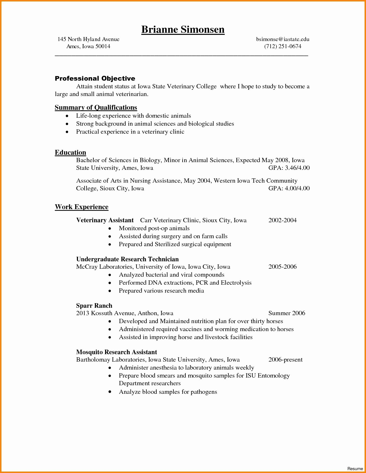 Biology Research assistant Resume Awesome 10 11 Biology Research assistant Resume
