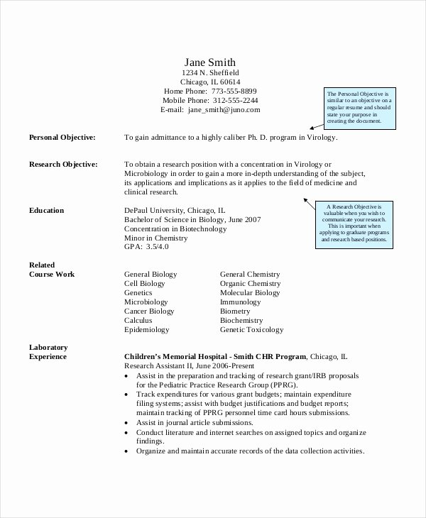 Biology Research assistant Resume Inspirational Research assistant Resume Template 5 Free Word Excel