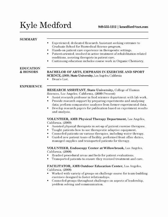 Biology Research assistant Resume Unique Research assistant Resume Example Sample