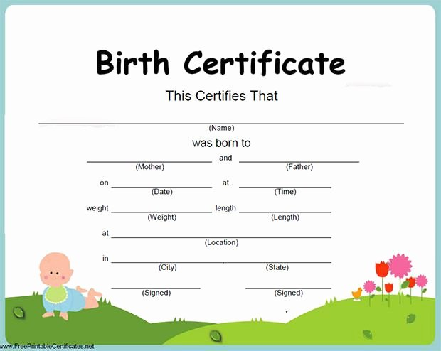 Birth Certificate Template Word Best Of Birth Certificate Template 31 Free Word Pdf Psd format Download