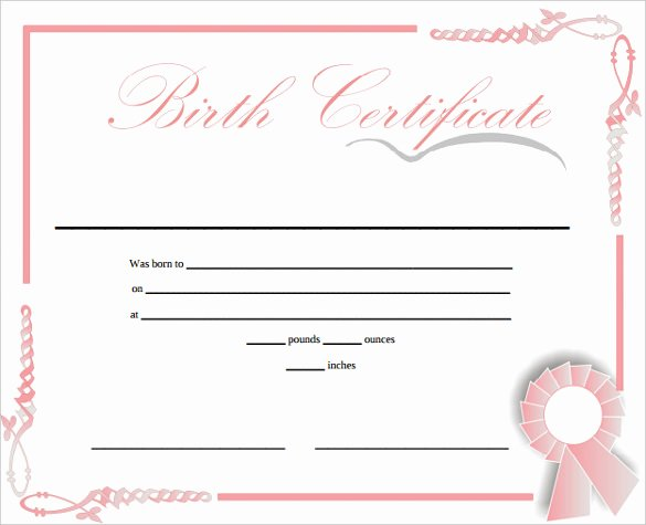 Birth Certificate Template Word Lovely Free 6 Editable Ficial Puppy Hospital Birth Certificate Template Printable Free Download