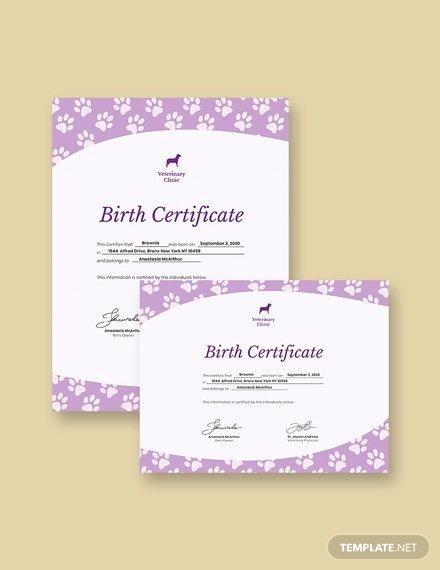 Birth Certificate Template Word Unique Birth Certificate Template 38 Word Pdf Psd Ai Indesign format Download