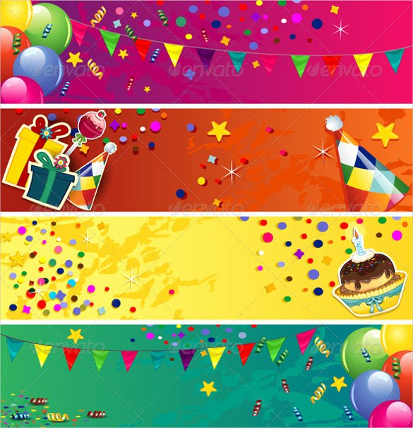 Birthday Banner Template Free Awesome Birthday Banner Template – 23 Free Psd Eps In Design format Download