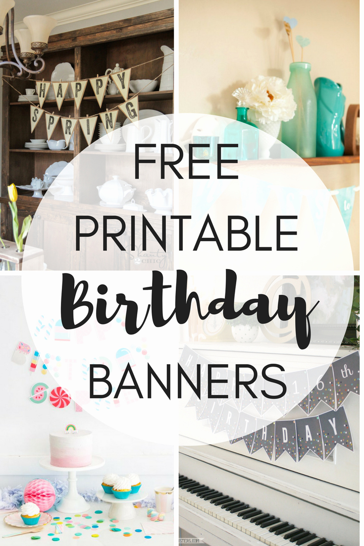 Birthday Banner Template Free Best Of Free Printable Birthday Banners the Girl Creative
