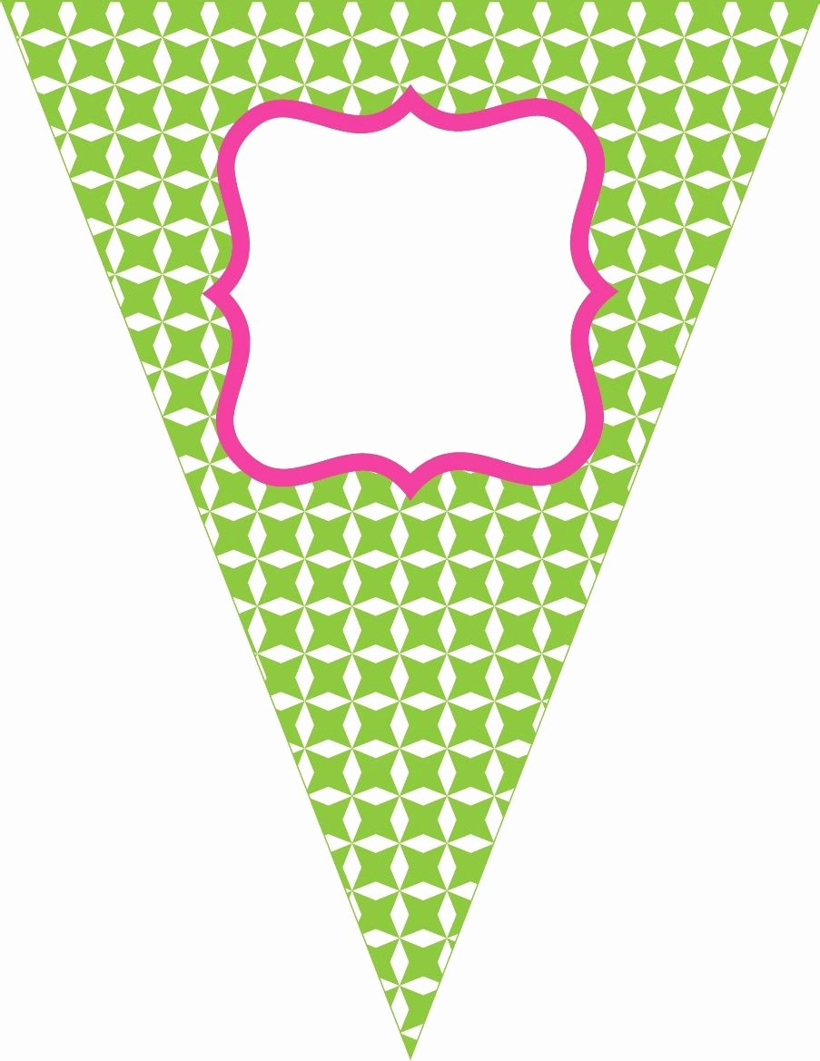 Birthday Banner Template Free Lovely Free Contemporary Happy Birthday Pennant Banner Pink Green Red