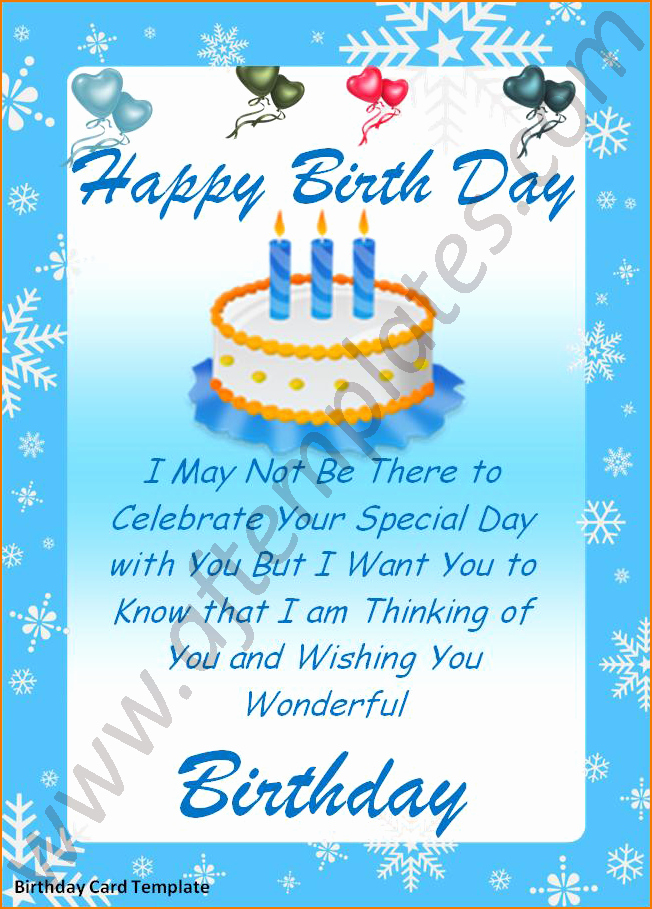 Birthday Card Template Word Inspirational 5 Word Birthday Card Template